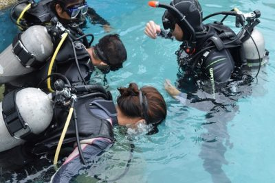 fun dive with equipment